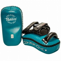 YOKKAO CURVED Vintage Blue Kicking Pad 2