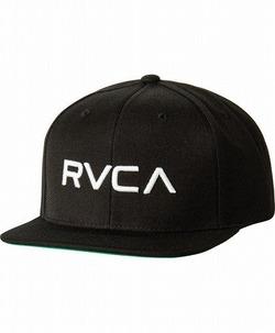 RVCA Twill Snapback III Hat blackwhite1