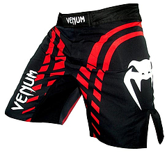 fightshort-redeline- Black1