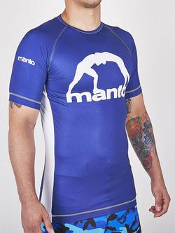 MANTO short sleeve rashguard LOGO blue 1