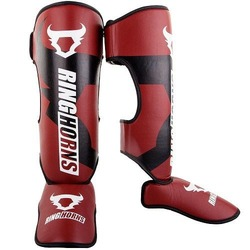 Charger Shinguards Insteps red 1