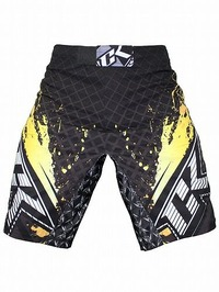 Shorts Stained S2 BK Yellow3