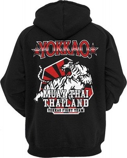 YOKKAO Extreme Fight Team 20 BlackRed Hoodie with zipper 2