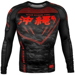 Okinawa 20 Rashguard ls blackred 1