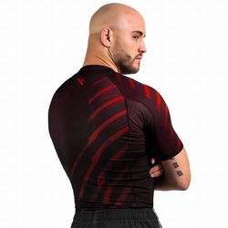 Metaru Rash Guard SS red2