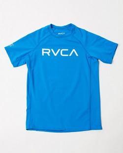 AJ045850 kids RVCA SHORT SLEEVE blue1