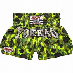 YOKKAO Army Green cotton Muay Thai Shorts 1