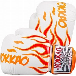 Inferno White Muay Thai Boxing Gloves1