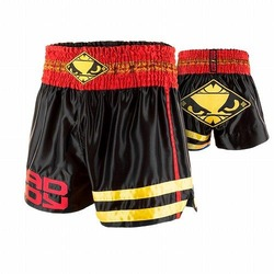 Tii Sok Muay Thai Shorts black red gold 1