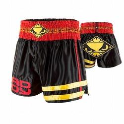 Tii Sok Muay Thai Shorts black red gold 1