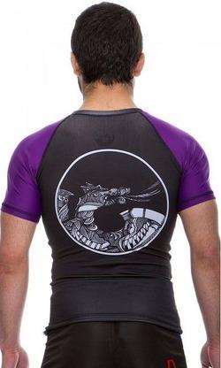 Rash Guard Maori purple3