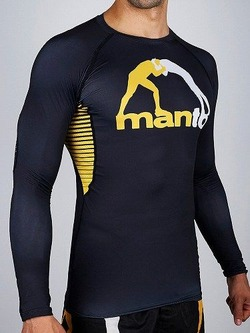 MANTO LONG SLEEVE RASHGUARD LOGO BLACK1