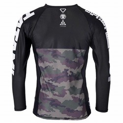 Essential Camo Long Sleeve Rash Guard green 3