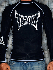 TAPOUT ラッシュガード 長袖 黒