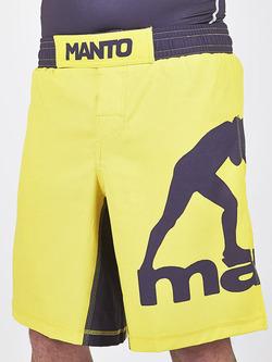 MANTO fight shorts PRO LOGO yellow 1