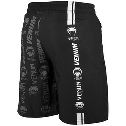 Logos Fitness Shorts black white 3