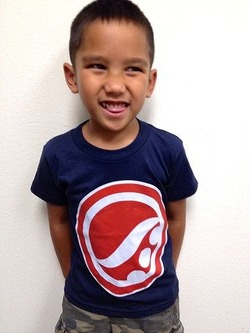 Original Logo Kids Tee Navy1