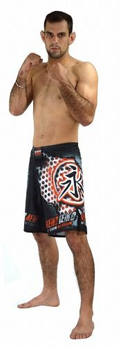 Shorts Iron Fighter BK RED1