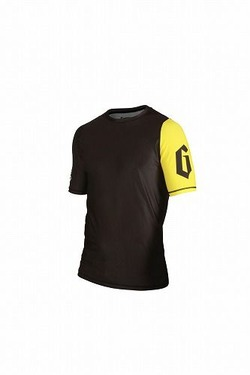 Grapple Rash Guard Black & Yellow  2