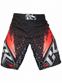 Shorts Stained S2 BK Red3