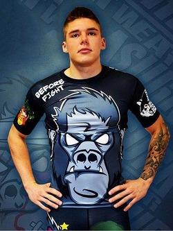 Gorilla Fight Rashguard Grey 1