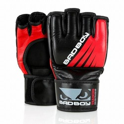 Training Series Impact MMA Gloves  Without Thumb blackred1