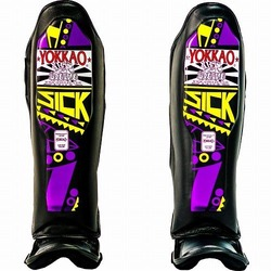 Sick VioletYellow Shin Guards 1