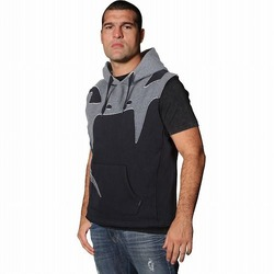 Assault Sleeveless Hoodie - Black Grey 1