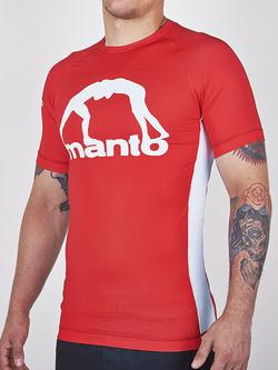 MANTO short sleeve rashguard LOGO red 1