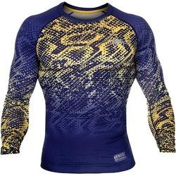 Tropical Tshirt Dry Tech blue yellow 1