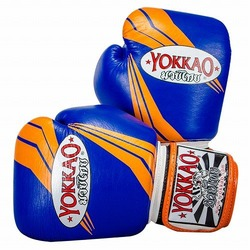 YOKKAO Terminator Blue Muay Thai Boxing Gloves 1