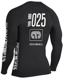 TEAM MOYA BLACK LS RASHGUARD black 2