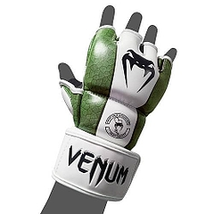 MMA Glove Skintex Leather Green1
