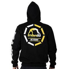 MANTO hoodie full zip OCTAGON black3