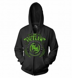 Panic Switch Army The OG Outlaw Zip Up Hoodie (Black)