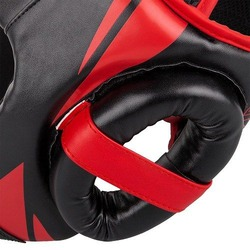 Challenger Open Face Headgear blackred 4