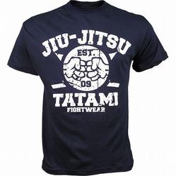 Tee Knuckles Jiujitsu Navy1