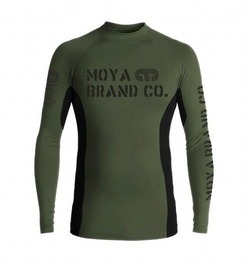 DEFEND ARMY GREEN LONG SLEEVE RASHGUARD1