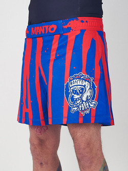 MANTO fight shorts ZOMBIE blue red 1