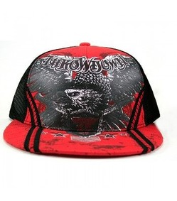 Throwdown Dagger Trucker Hat Red