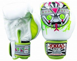 APEX Snake Muay Thai Boxing Gloves White 4