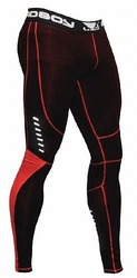 Compression Leggings Black-red 1