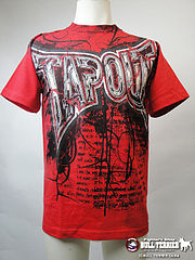 TAPOUT Tシャツ Thunder Storm 赤