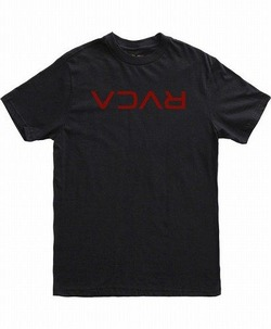 FLIPPED RVCA T-SHIRT blk 1