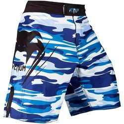 Wave Camo Fightshorts blue1