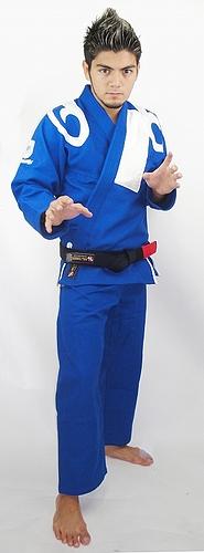 ブルテリア 柔術衣 フレア 青