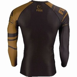 IBJJF Ranked Long Sleeve Rashguards brown 4