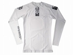 Retro Rash Guard white 2
