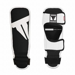 Youth Shin In Step Guards Black White