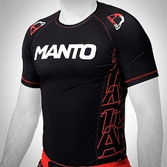 MANTO shortsleeve rashguard DYNAMIC black red1
